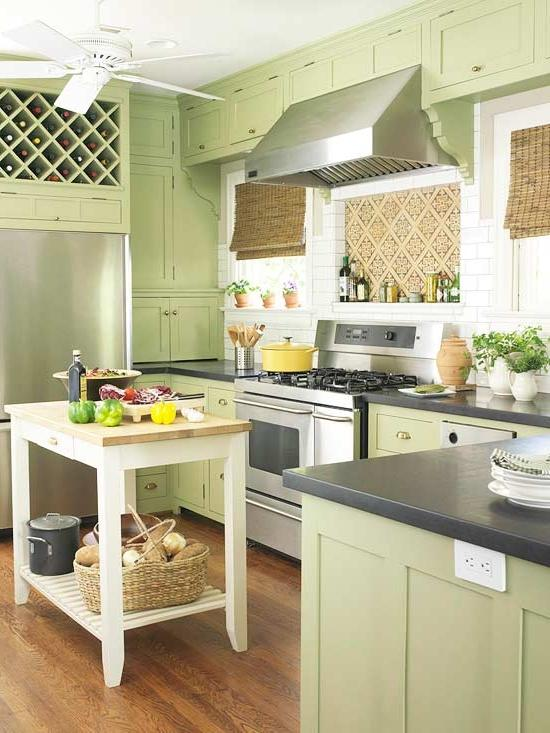 ... beautiful green kitchens (4) ...