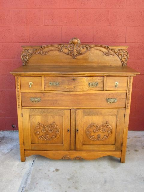 American Antique Cabinet Sideboard Cupboard Antique Furniture