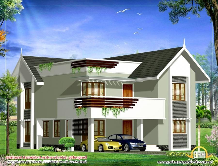 20 spectacular duplex houses models building plans for Duplex house models