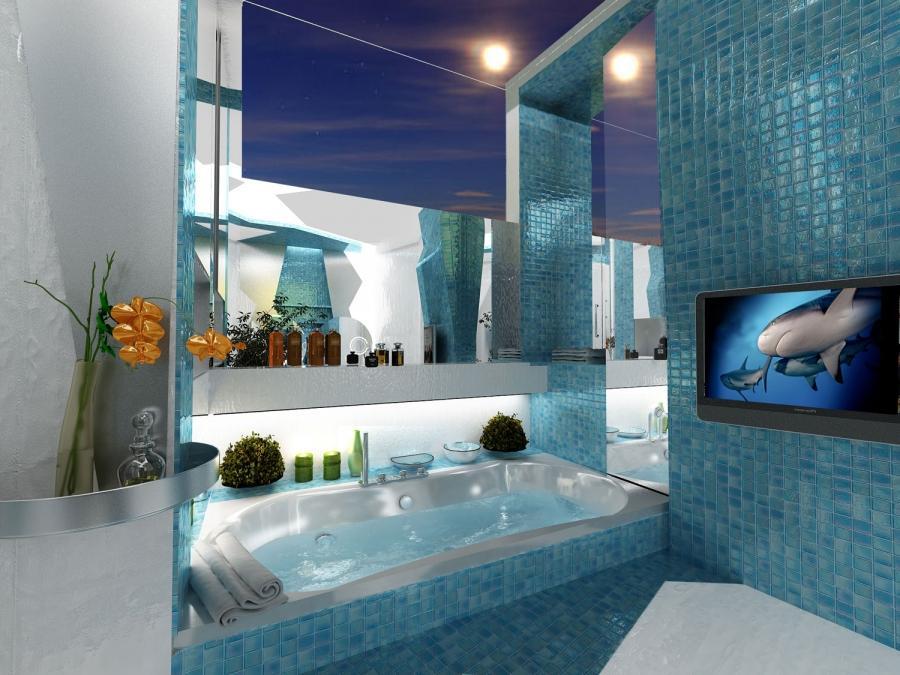 Ocean theme bathroom photos for Deep house intro