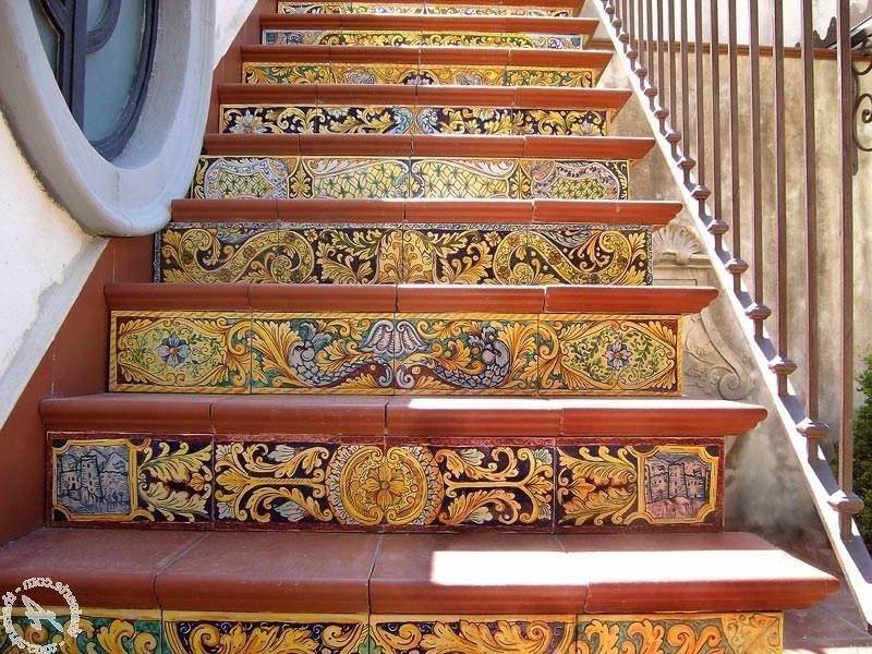 Ceramic tile stair treads