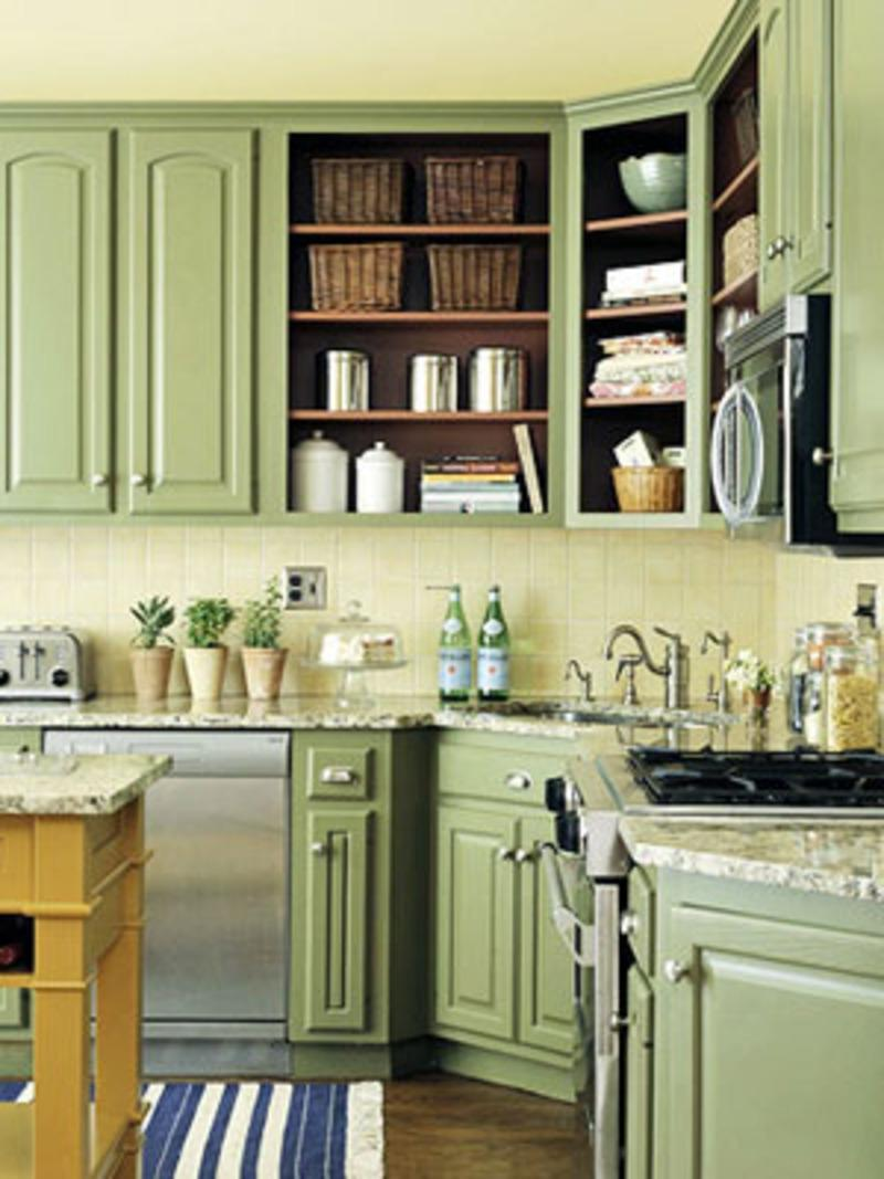 Green Kitchen Interior Idea Ideas