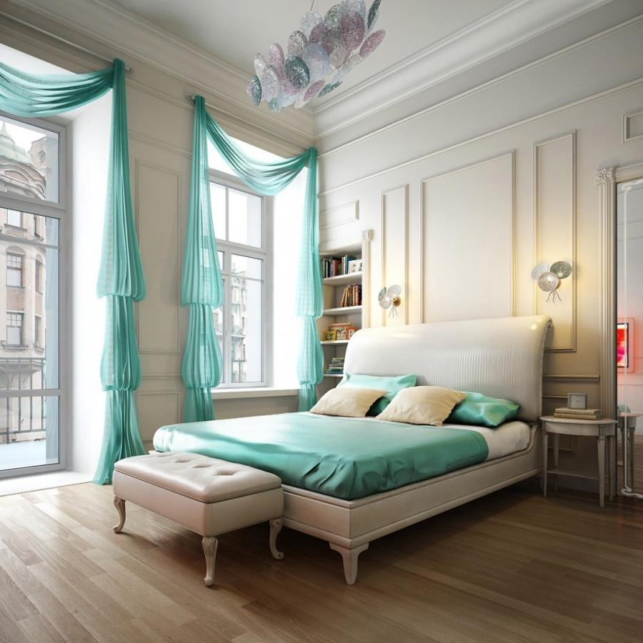 Modern Bedroom Curtains Layout