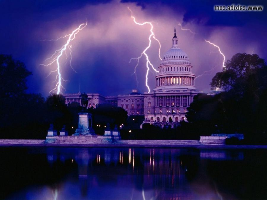 White House And Lightning Photos