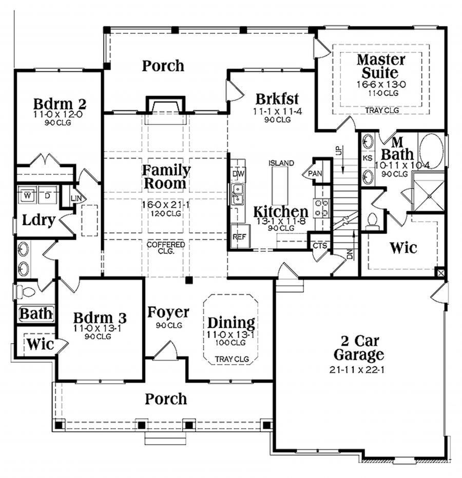 Ranch house plans with interior photos for Small house plans with character