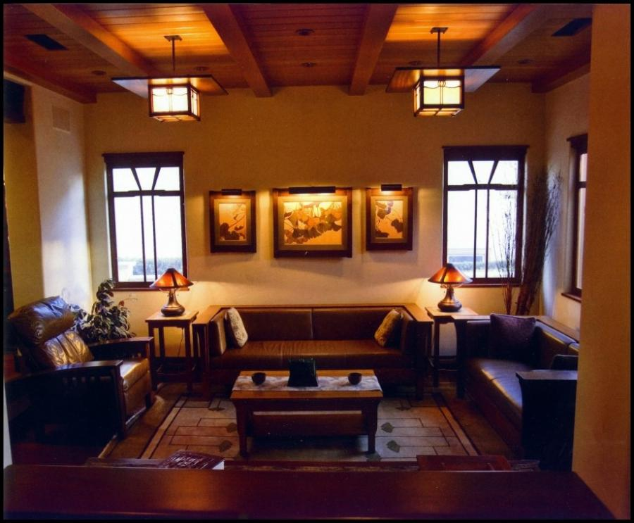Arts and crafts interior photos for Arts and crafts living room ideas