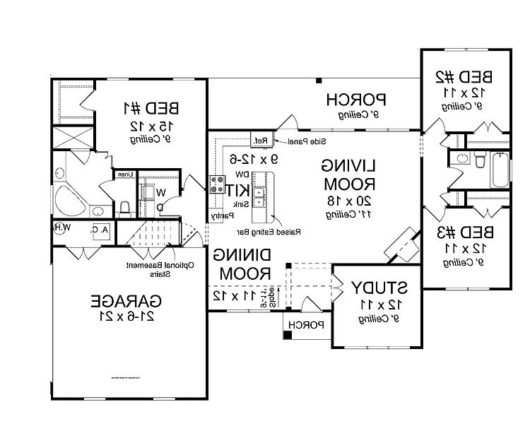 Open concept house plans with photos for Floor plan open source