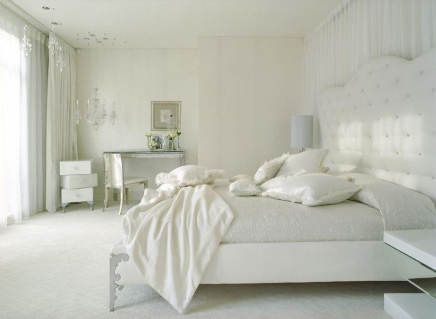 Impressive Astounishing White Bedroom Design With Extraordinary...