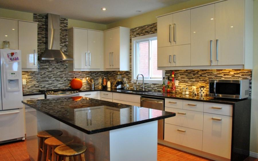 Granite tile countertop photo gallery for Kitchen designs namibia