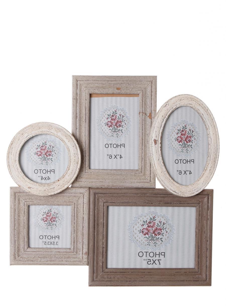 Deknudt frames multi photo frame glass silver 4 apert