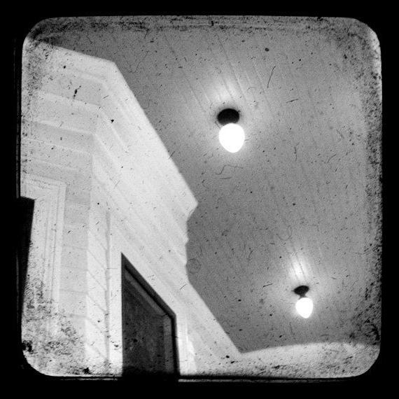 Black and White Ceiling Photograph Vintage by MelissaKLund