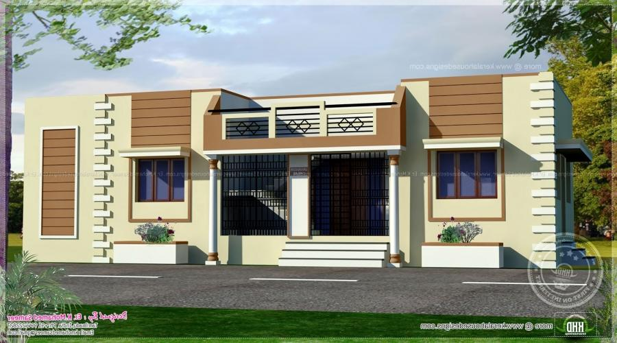 Tamilnadu style single floor home. House specification