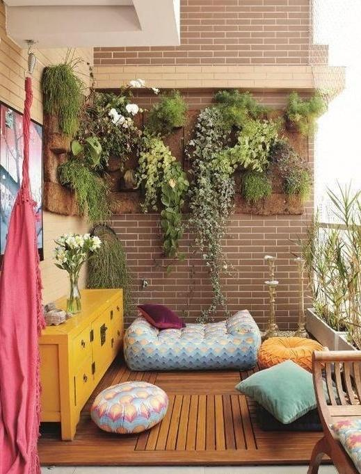 In case your balcony is not so small, you can take some pretty...