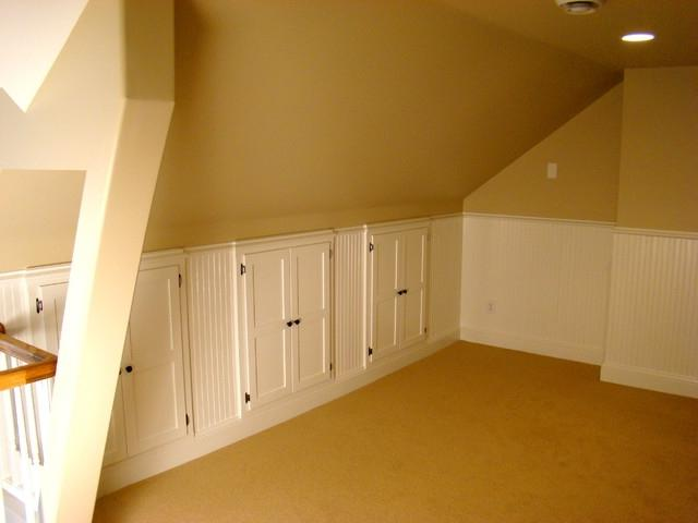 Attic Remodel with Family Room traditional-family-room