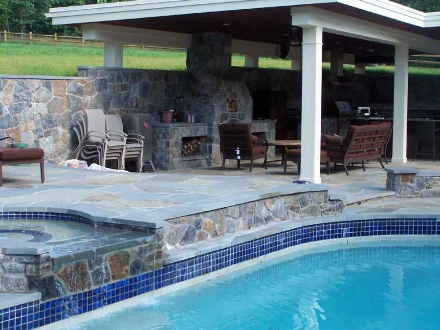 Pool and outdoor kitchen photos for Landscaping rocks yuma az