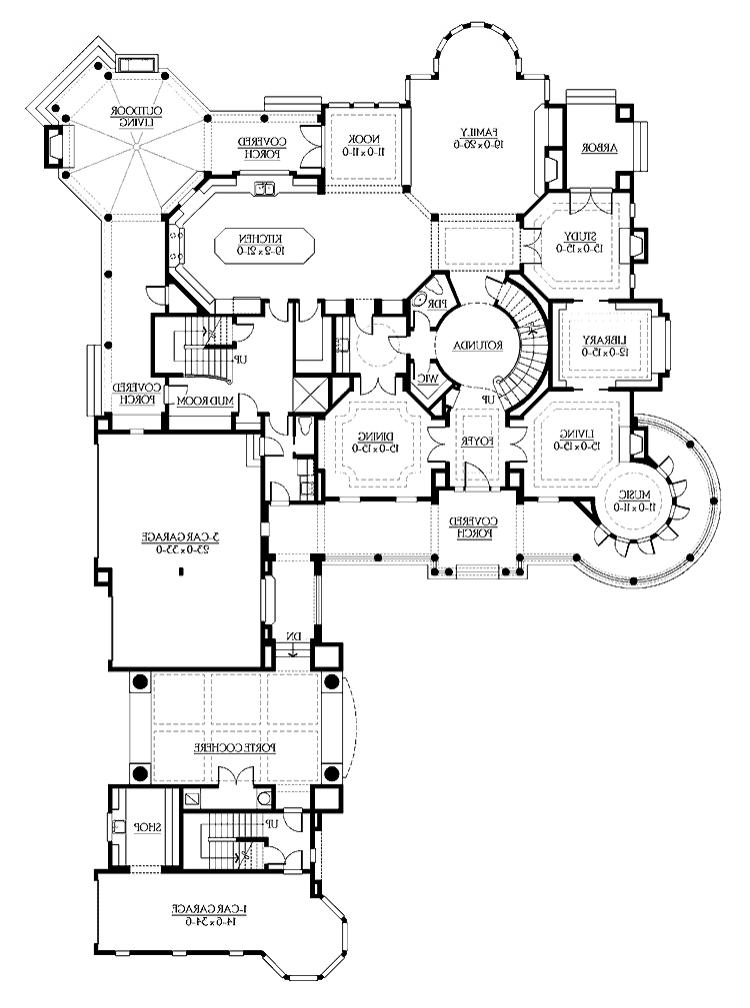 Mansion house plans with interior photos for 12 bedroom luxury house plans