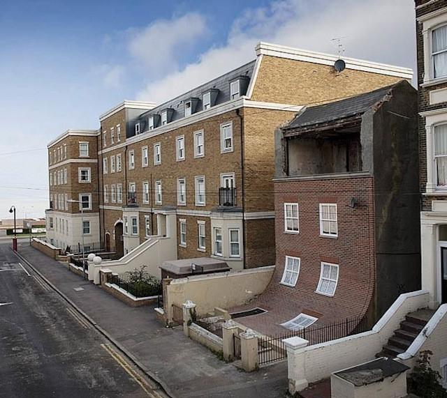 slipped-down-facade-house-margate-england-alex-chinneck