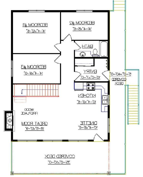 Canadian house plans with photos for Cabin floor plans canada