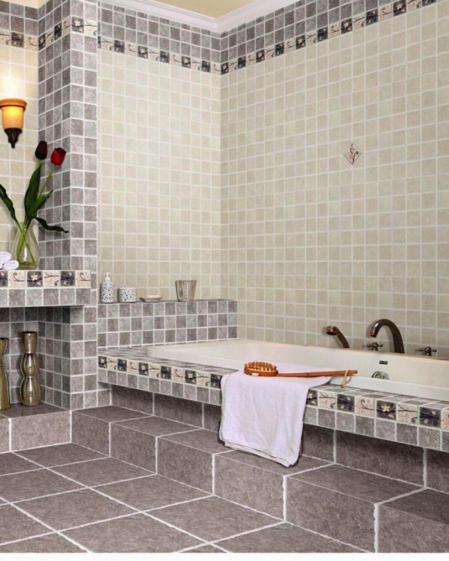 Кафель на ванну дизайн
