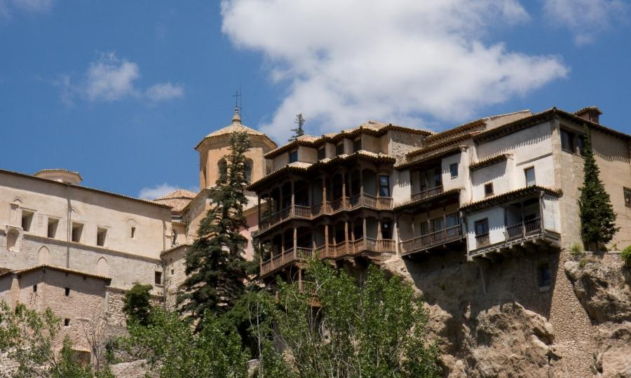 Cuenca hanging houses photos