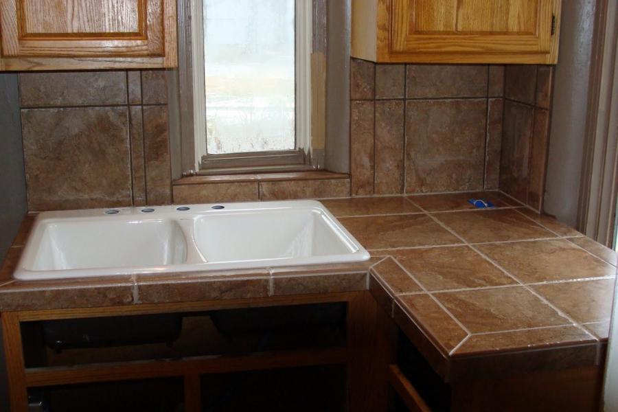 Ceramic tile countertop pictures