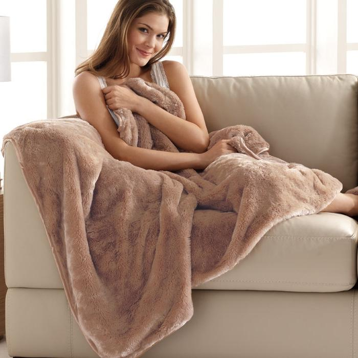 Ultra-cozy Nap Luxe Blanket at Brookstone $49.99