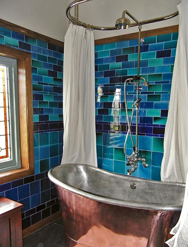 Photos arts crafts bathrooms for River stone bath mat