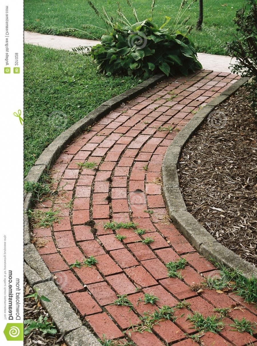 Brick garden paths photos