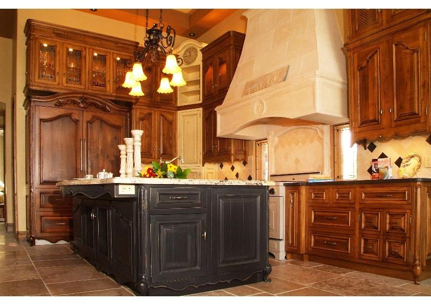 ravishing warm french country kitchen design: french kitchen...