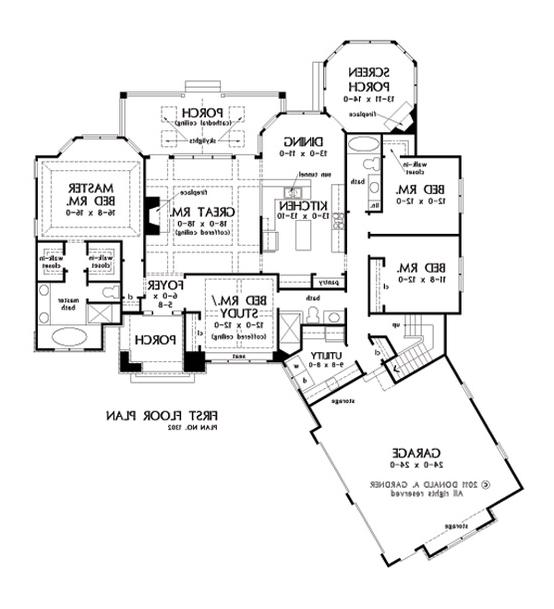 Open concept house plans with photos for One story open concept house plans