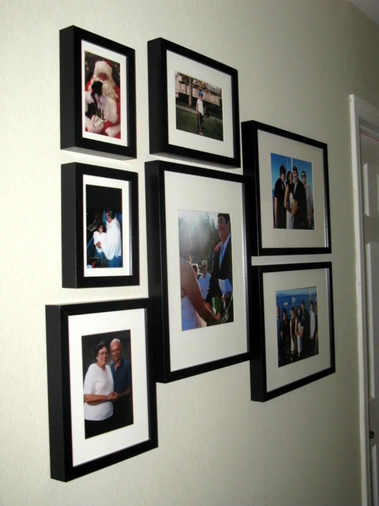 Our hallway family photo collage.