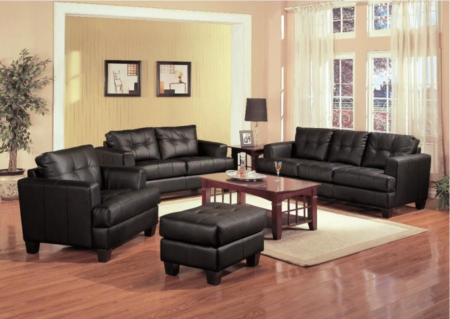 cozy black leather sofas for elegant living room dazzling black