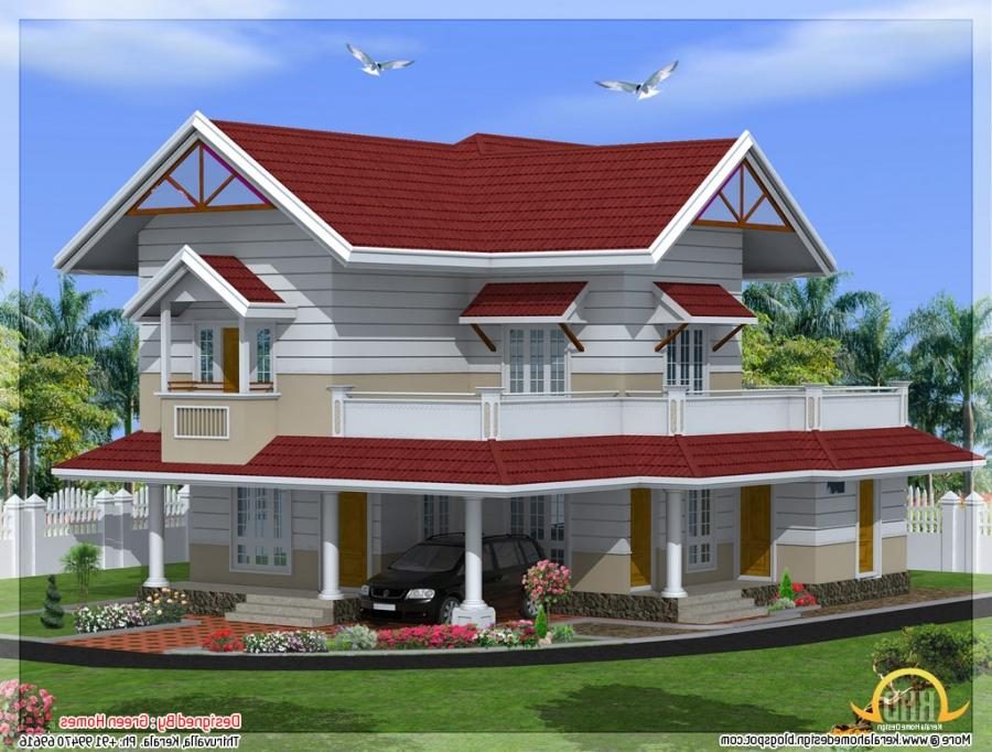Kerala new style house photos for Kerala dream home photos