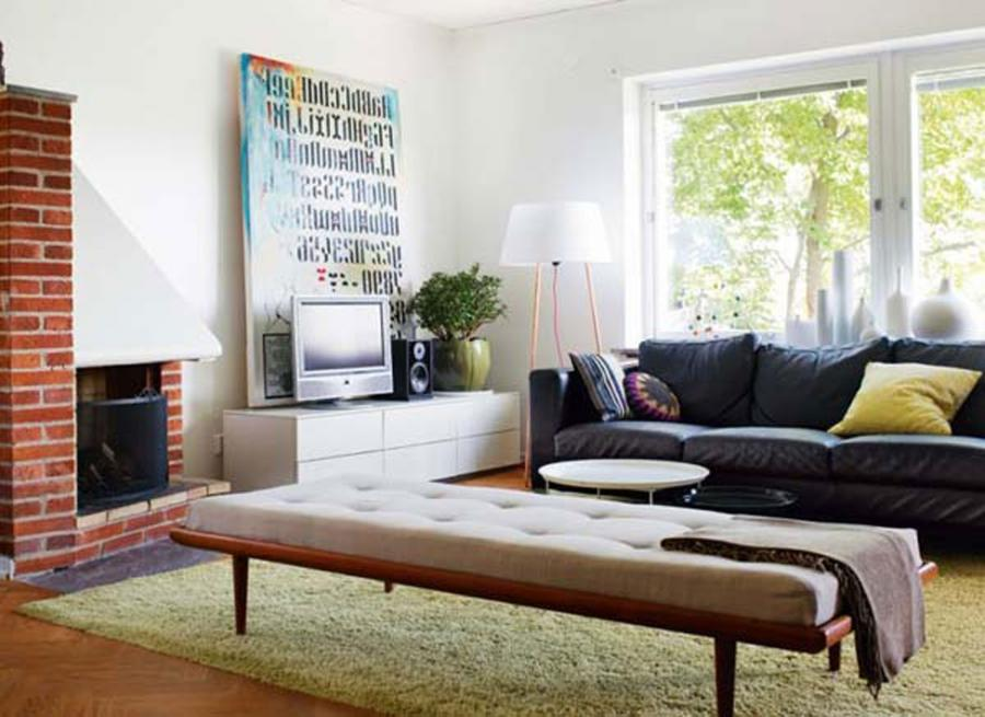 ... Modern Family Room Design with Minimalist Furniture ...