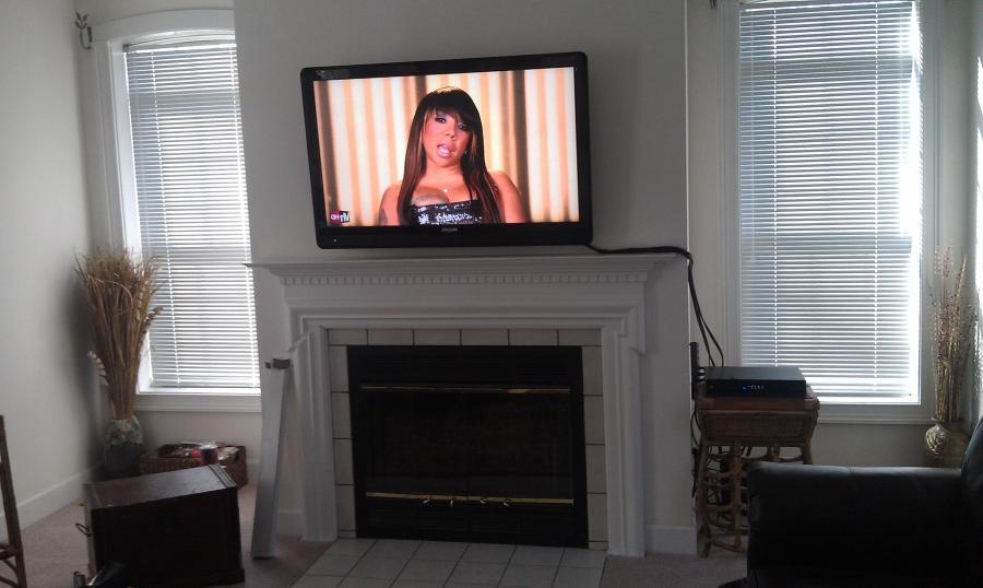 Tv Above Fireplace Photos