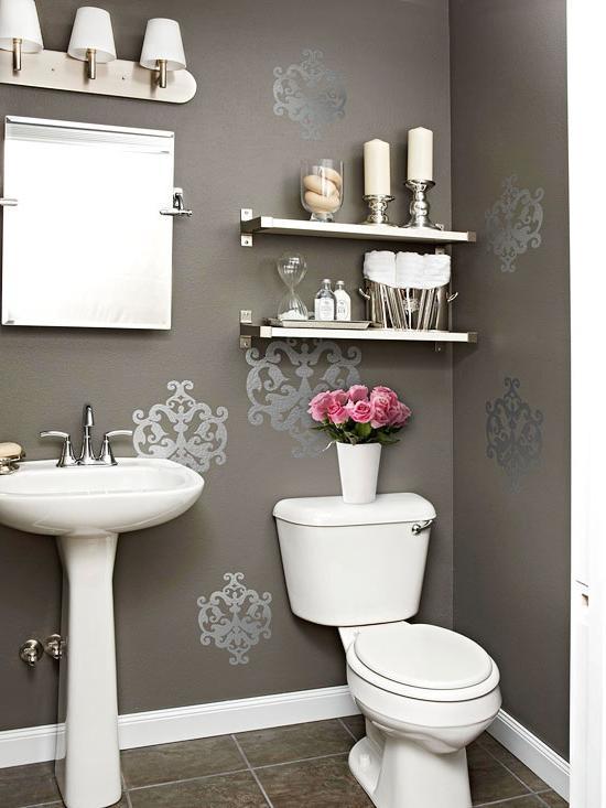 Powder Room Pedestal Sink Photos