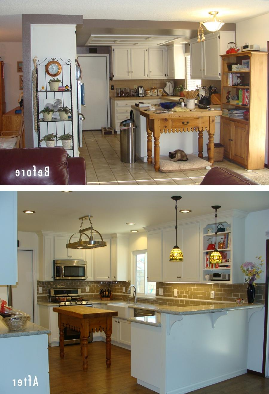 before and after photo kitchen