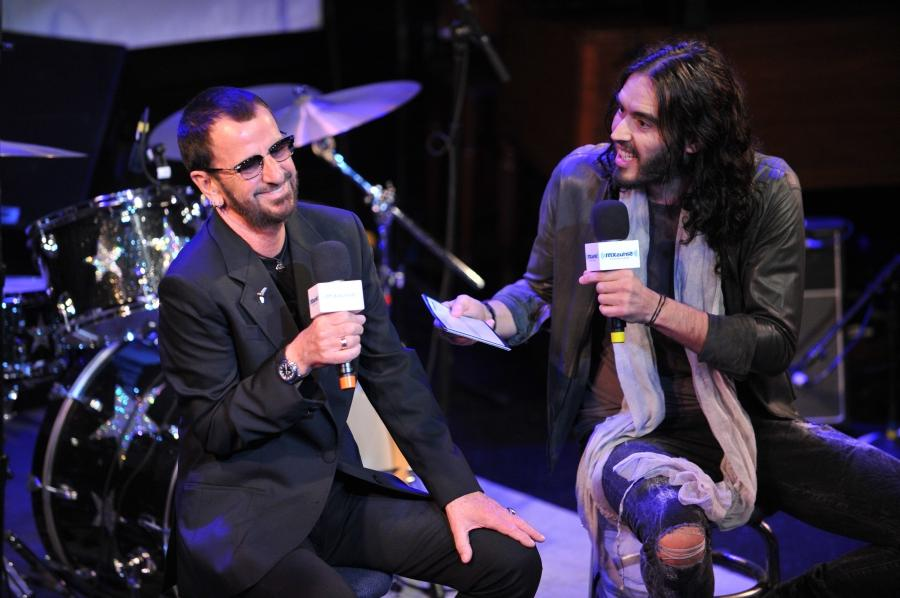 Ringo Starr and Russell Brand at Sirius XM Town Hall session