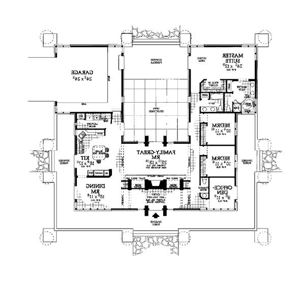 Southwestern house plans with photos for Southwest floor plans