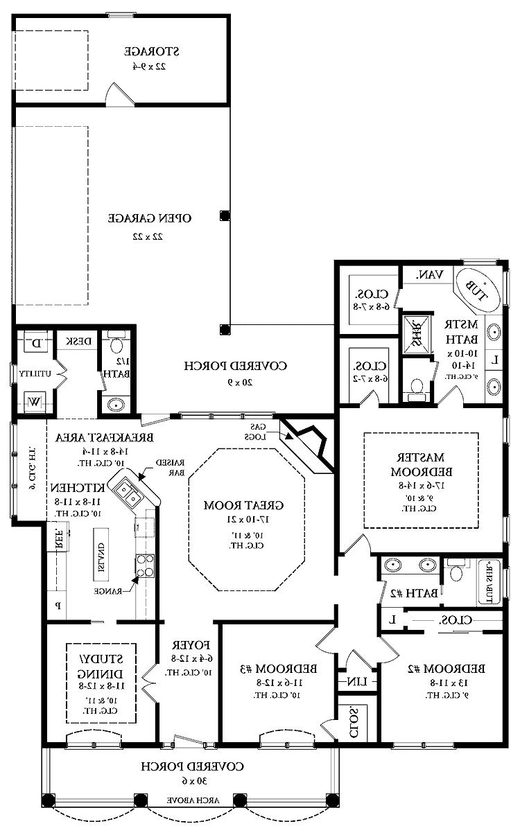 Open floor plans photos for Open floor plan house plans with photos