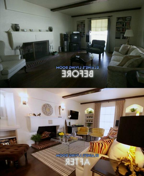 living room makeover before and after photos