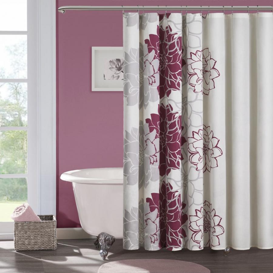 Girly bathroom shower curtains for Girly bathroom decor