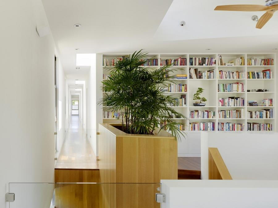 Architecture, Home Interior Design Beadboard Bookcase Hallway...