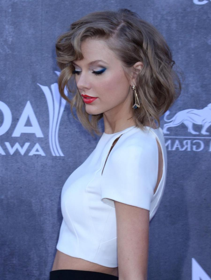 Musician Taylor Swift attends the 49th annual Academy of Country...