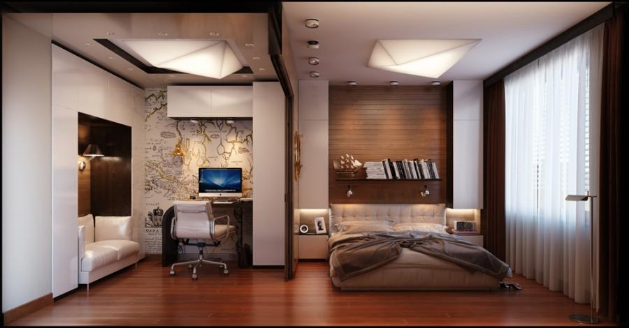 Studio Apartment Design Masculine Studio Apartment Design