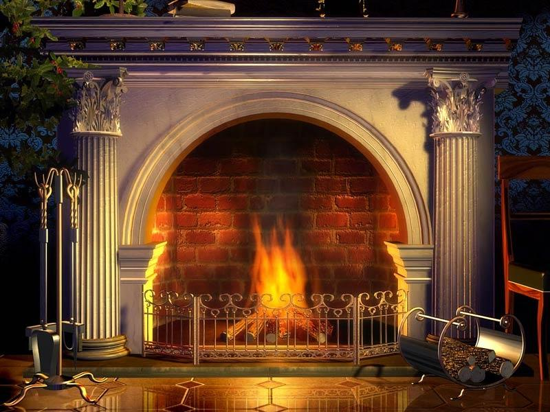Fireplace Photo Backdrop