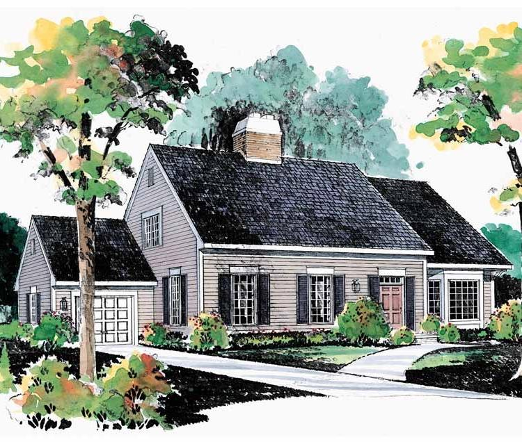 Cape cod house plans with photos for Two story cape cod
