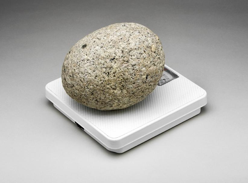 I saw the stone that weighs a stone on your website. I measured...