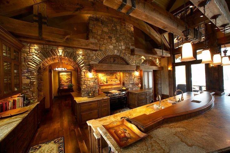 Beautiful Log Home Kitchen Dream Home Pinterest Source