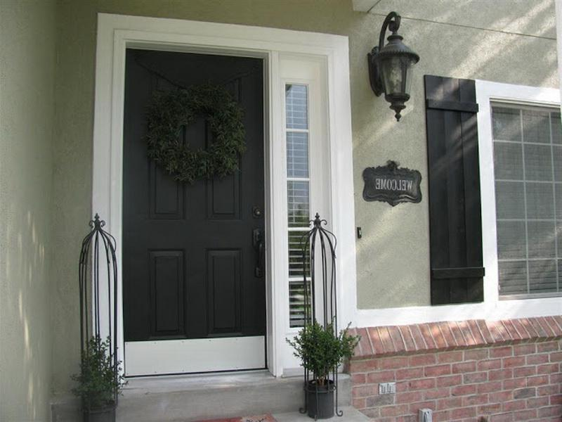 Photos black exterior doors - Exterior paint for doors gallery ...